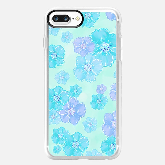 Blossoms Aqua Blue Mint -