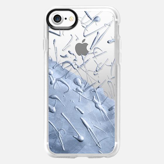 Aquamarine Rain (transparent) - Wallet Case