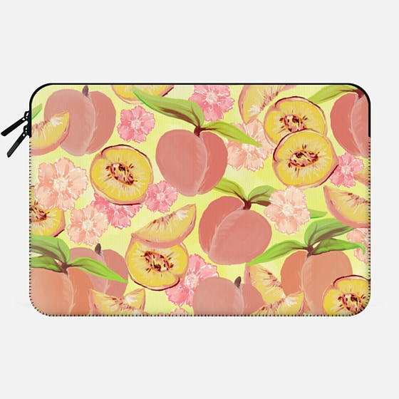 Peaches on Yellow - Macbook Sleeve