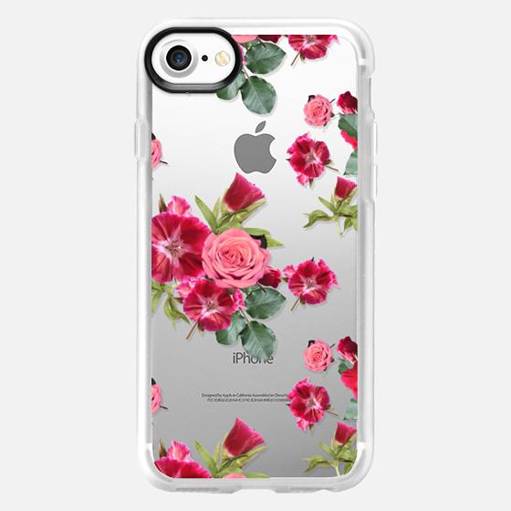 Sweet Pink Floral (transparent) - Wallet Case