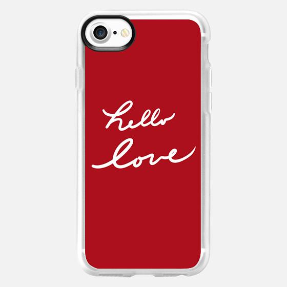 Hello Love Red - Wallet Case