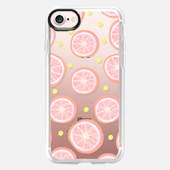 Pink Grapefruit and Dots - Wallet Case
