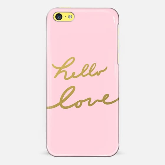 hello love - pink - Classic Snap Case