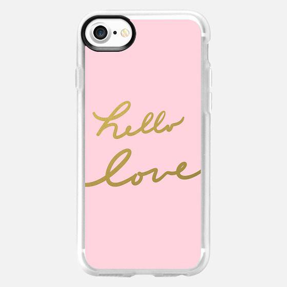 hello love - pink - Classic Grip Case