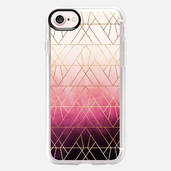 Pink Ombre Triangles - Classic Grip Case