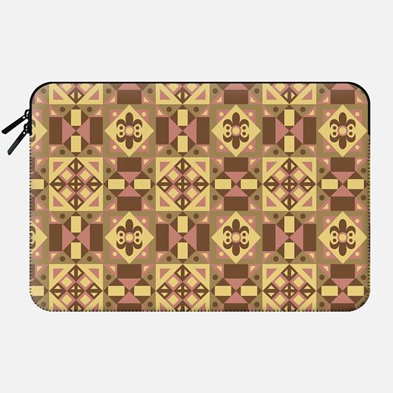 Ethnic Moroccan Motifs Seamless Pattern 15 by Haidi Shabrina - Macbook Sleeve