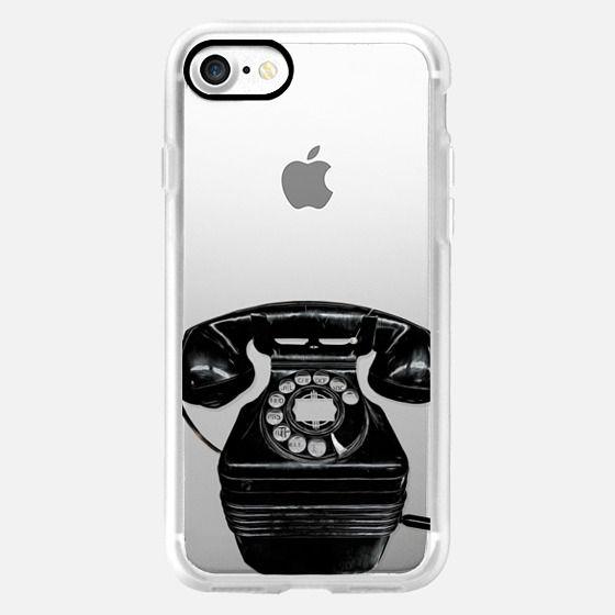 Vintage Telephone Semi-Transparent -