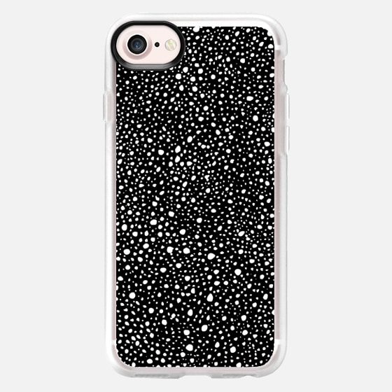 Monochrome polka dots ink splats - Wallet Case