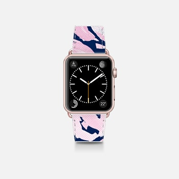 Apple Watch Band (38mm)  Pink Peonies on Navy -- Watercolor Florals for Apple Watch