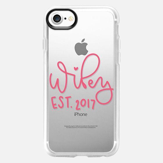 Wifey - Pink Transparent - Classic Grip Case