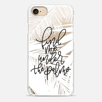 iPhone Case -  Under The Palms // WHITE