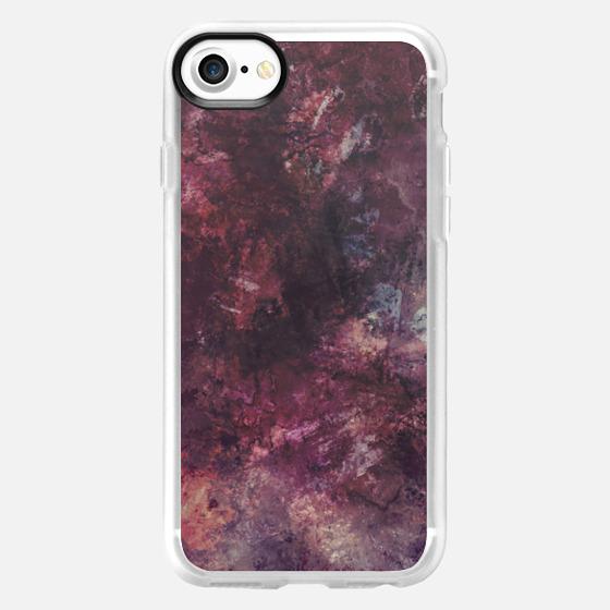Purple grunge painting - Wallet Case