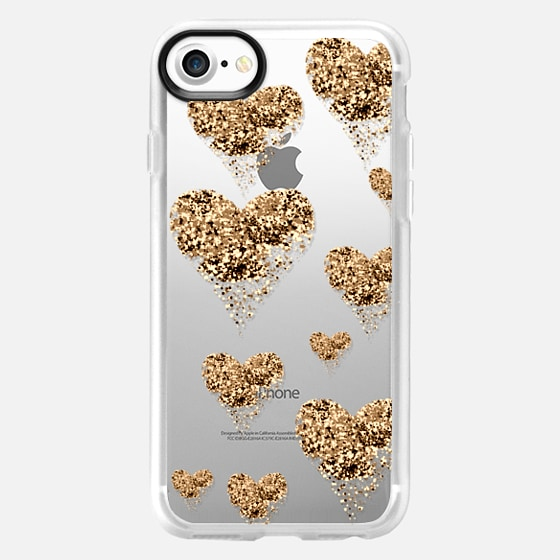 sparkly golden hearts - Wallet Case