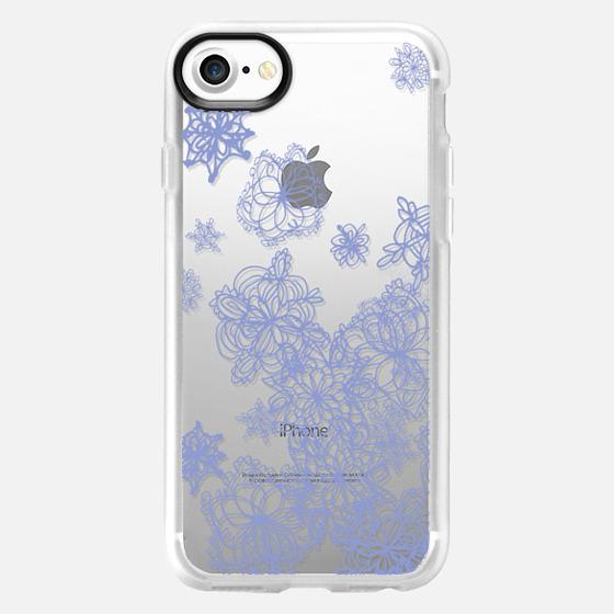 light purple snowflakes - Wallet Case