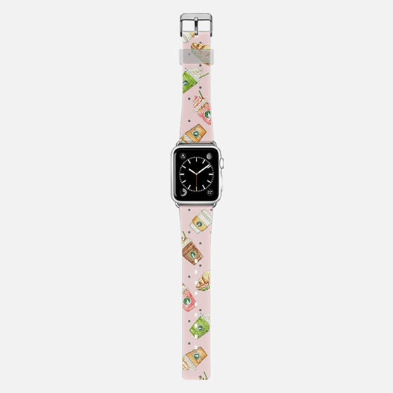 Coffee relax time watercolor pink iwatch by imushstore -