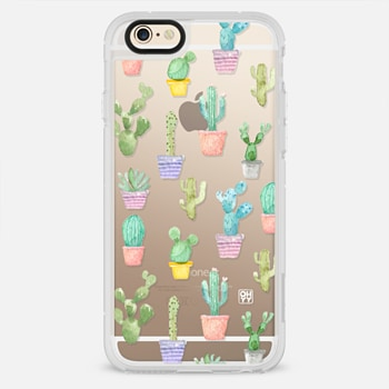 iPhone 6 Case Watercolour pastel cactus hot summer by imushstore