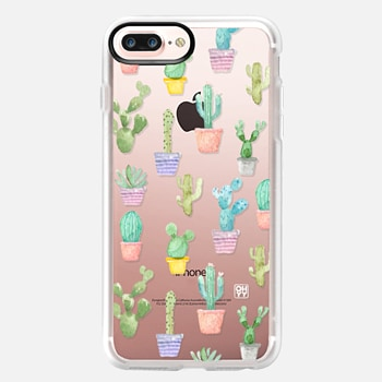iPhone 7 Plus Case Watercolour pastel cactus hot summer by imushstore
