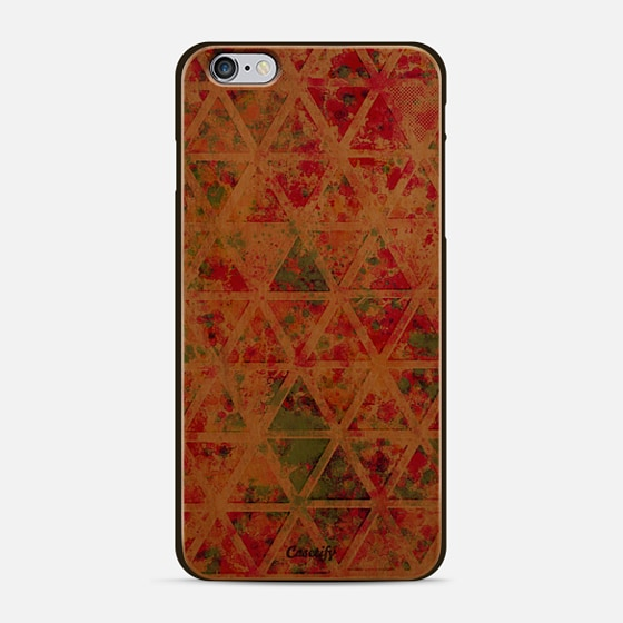 Retro Pink Rainbow Watercolor Triangles Pattern -