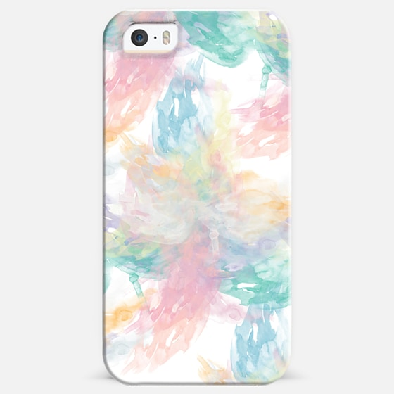 Abstract Girly Pastel Watercolor Splatters Pattern - Classic Snap Case
