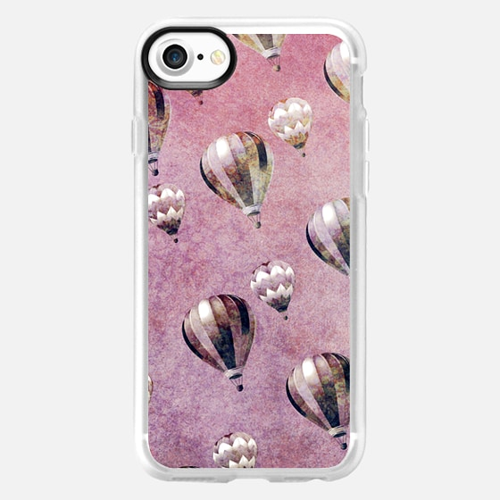 Vintage Hot Air Balloons Retro Floral Damask Ipad Mini -