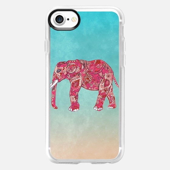 Whimsical Colorful Elephant Tribal Floral Paisley -