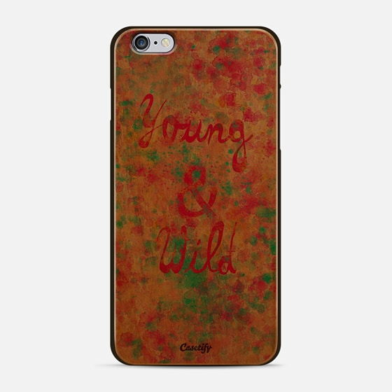 Young Wild Girly neon Pink Teal Abstract Splatter Typography - New Standard Case