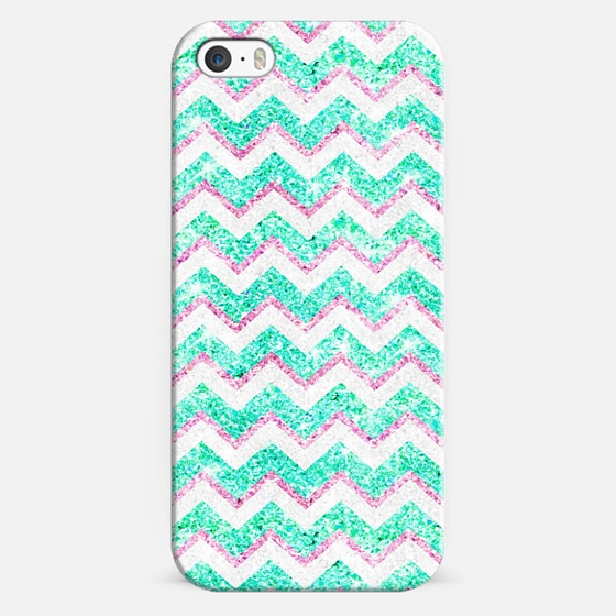 Chevron Pattern Girly Teal Pink Glitter photo -
