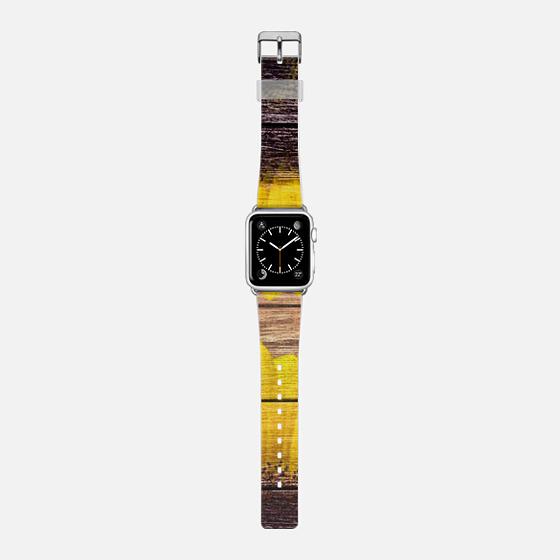 Sunflowers on wood Apple watch -