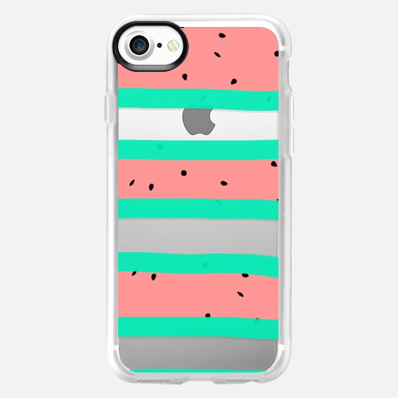 Summer bright coral mint watermelon stripes pattern by Girly Trend - Wallet Case