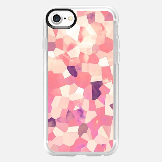 Mod Geometric Abstract Pattern Pink Retro Pastel -