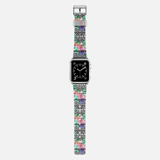 Exotic hawaiian floral watercolor black aztec by Girly Trend -
