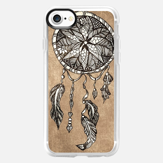 Hipster dreamcatcher feathers vintage paper by Girly Trend - Wallet Case