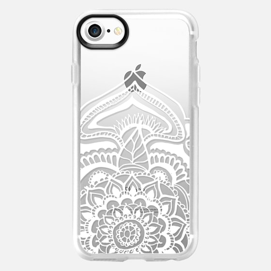White floral lace henna mandala pattern by Girly Trend - Wallet Case