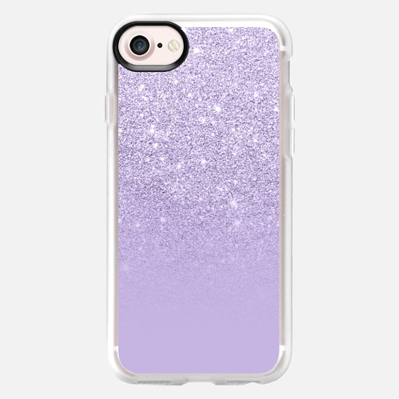Modern purple lavender pastel faux glitter ombre by Girly Trend - Wallet Case