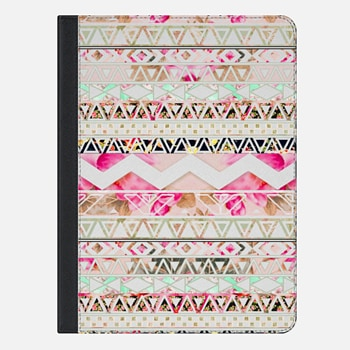 "iPad Pro 9.7"" Case Pink pastel floral geometric aztec pattern by Girly Trend"