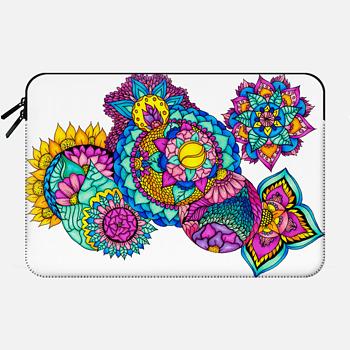 Bright boho handdrawn floral bright watercolor mandala illustration full by Girly Trend