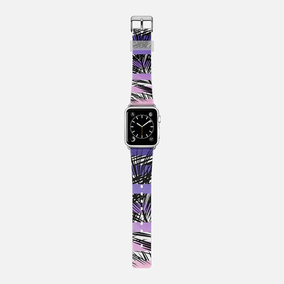 Modern tropical watercolor sunset ombre exotic black palm tree leaves pattern by Girly Trend -