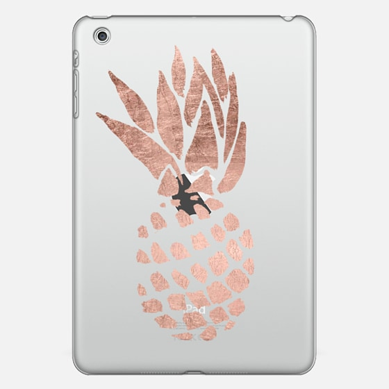 Modern chic rose gold foil hand painted pineapple fruit by Girly Trend - Photo Cover