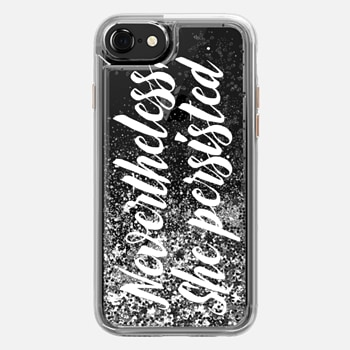 iPhone 7 Case Modern quote typography meme trendy nevertheless she persisted by Girly Trend