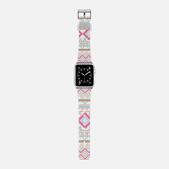 Pink coral mint atzec pattern watch -