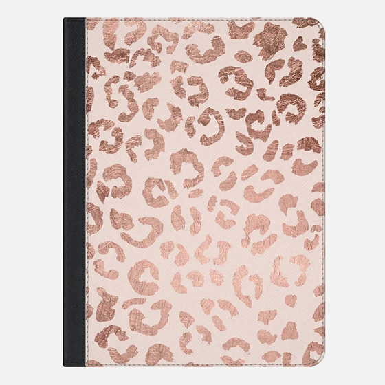 iPad Air 2 Hülle - Modern hand drawn rose gold leopard print pattern blush pink by Girly Trend