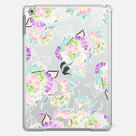 Modern bright spring pastel floral watercolor illustration  by Girly Trend - Classic Snap Case