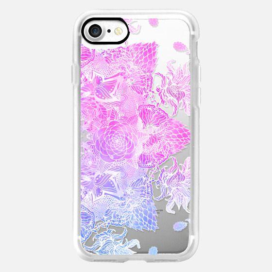 Pink purple watercolor hand drawn mandala illustration by Girly Trend -