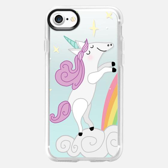 Happy Unicorn - Blue - Wallet Case
