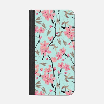 iPhone Wallet Case -  April blooms(sky)
