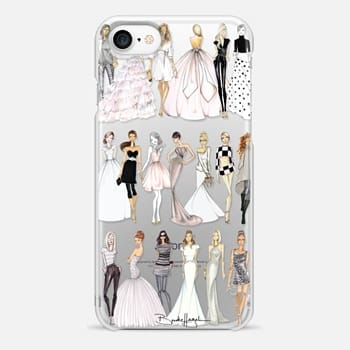 iPhone 7 Case Croqui Collection Clear