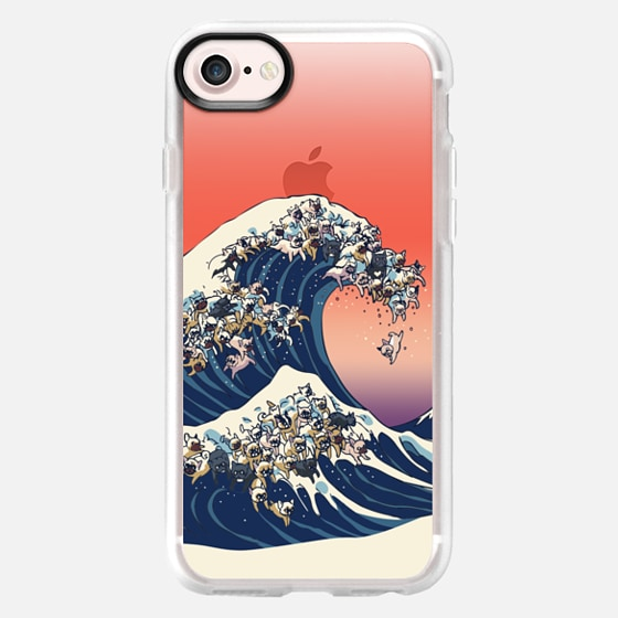 The Great wave of french bulldog - Wallet Case