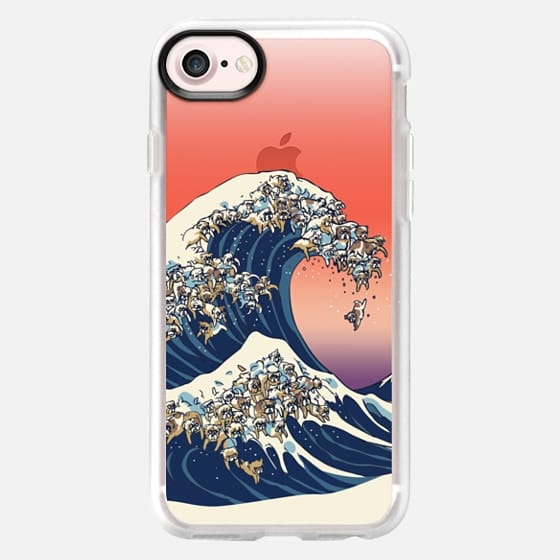 The great wave of english bulldog - Classic Grip Case