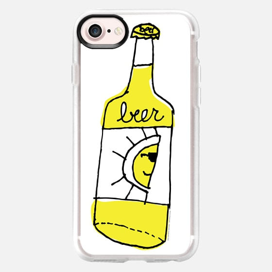 beer - white case - Classic Grip Case