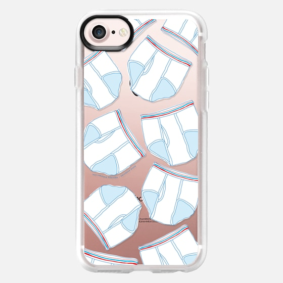tight whities - clear - Classic Grip Case